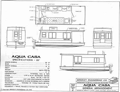houseboat plans aqua casa cape codder wooden boat plans houseboats   wooden boat