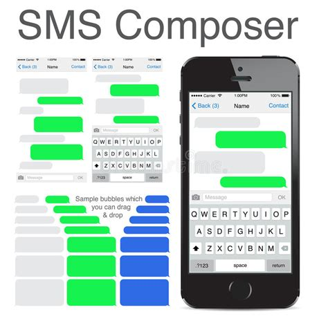 Sms Template Iphone by Iphone 5s Chatting Sms Template Bubbles Editorial Photo