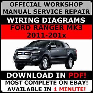 Official Workshop Repair Manual For Ford Ranger Mk3 2011