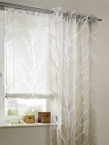 ösen Für Gardinen : 1 st gardine store 140 x 225 wei ausbrenner vorhang sen schal ste motiv neu ebay ~ Indierocktalk.com Haus und Dekorationen