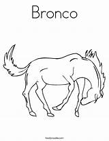 Coloring Bronco Broncos Pages Horse Clipart Noodle Clip Built California Usa Library Twistynoodle Comments sketch template