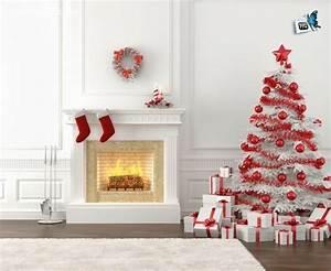 tacivcom deco sapin rouge et blanc 20170702084531 With salle de bain design avec sapin blanc artificiel décoré