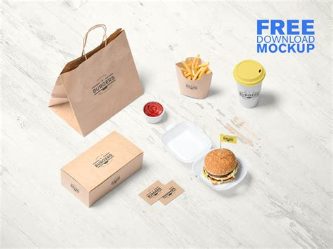 Adjust the colors or add more photo effects using photoshop's adjustment layers. Free Fast Food Branding Mockup   Free Premium PSD ...