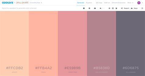 Color Schemes by Generate Coolors Co 10 Nicely Done