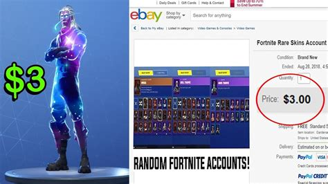 spent    rare fortnite account  ebay youtube