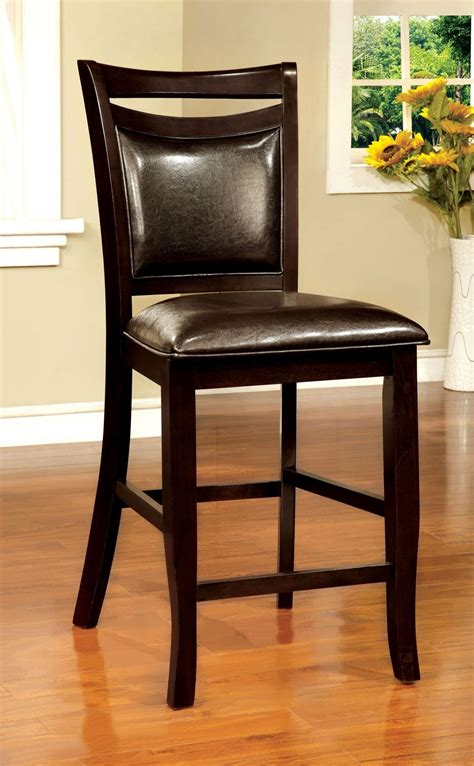 woodside ii espresso counter height chair set of 2 from
