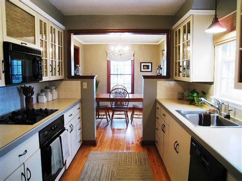 galley kitchen open to dining room bethany s clean classic crisp minneapolis home galley 8296