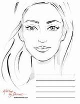 Template Makeup Face Charts Blank Artist Coloring Templates Mac Chart Drawing Sketch Croquis Printable Artists Cliparts Pages Hair Female Looks sketch template