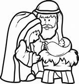 Manger Coloring Pages Away Nativity Printable Getcolorings Born sketch template