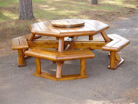 octagon game table plans rustic picnic table rustic lodge log and timber