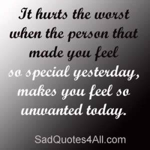 Quotes On Feeling Unwanted In A Relationship. QuotesGram