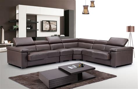 Quality Sofa by High End Quality Leather L Shape Sectional Garland