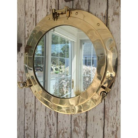 """Unfollow sailboat wall plaque to stop getting updates on your ebay feed. 20"""" Brass Porthole Mirror ~Nautical Wall Decor ~ Large Working Ship Cabin Window - Walmart.com ..."""