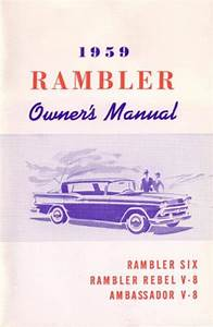 Owner U0026 39 S Manual  Factory Authorized Reproduction  1959