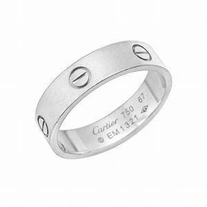 estate cartier men39s 18k white gold quotlovequot wedding band With cartier men wedding rings
