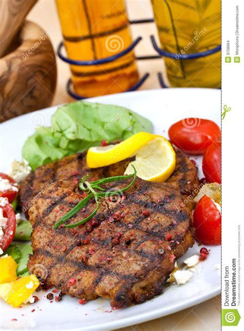 Pork Steak Salad