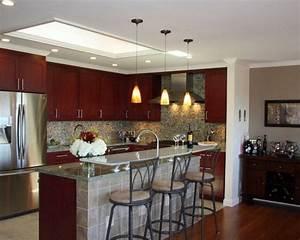 Recessed bedroom livingroom kitchen design different built