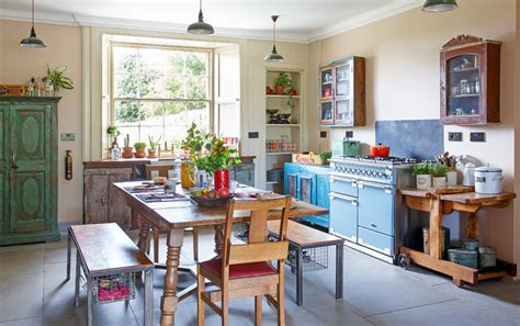 deco cuisine retro cagne vintage kitchen ideas reclaimed materials eclectic