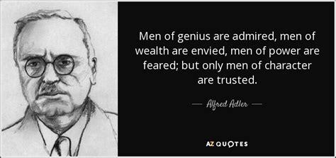 alfred adler quote men  genius  admired men