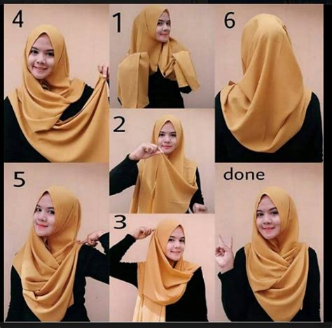 memakai hijab kreasi modern modis cantik terbaru
