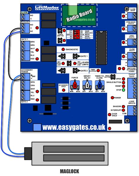 installing es500 magnetic lock to the cb24 control panel easygates manuals