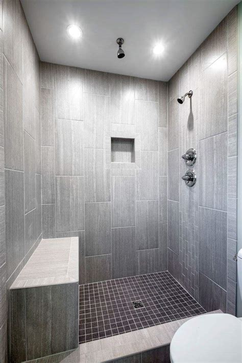 Lowes Bathroom Floor Tiles by Leonia Silver Tile From Lowes Tiled Shower Bathroom