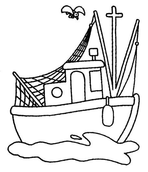 Fishing Boat Clipart Black And White by Boat Pictures To Color Clipart Best