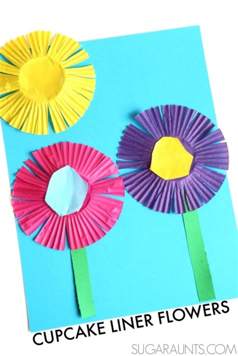 flower scissor skills craft the ot toolbox 536 | spring craft flowers cupcake liners