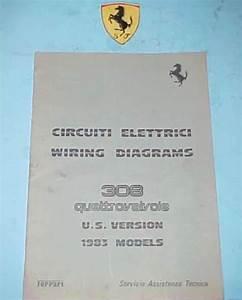Ferrari 308 Wiring Diagrams Original   273  83   Oem