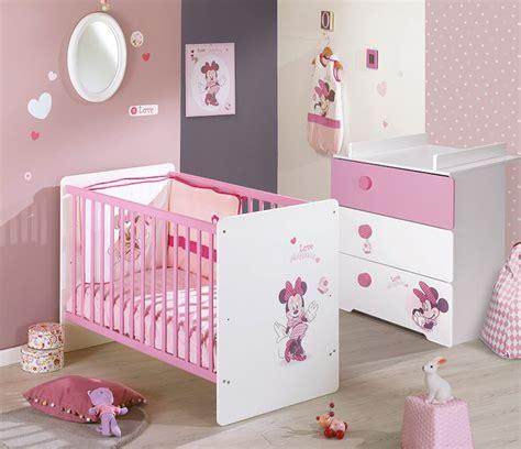chambre fille minnie commode chambre de bébé avec dispositif à langer disney