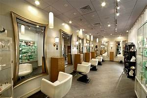 Modern mirror for salon to attract customers for Kitchen cabinet trends 2018 combined with beauty salon wall art