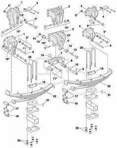 Volvo Steel Hanger 4 Spring Tandem Rear Suspension