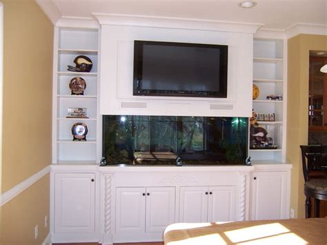 kitchen cabinets wall entertainment center with fish tank traditional family 3291