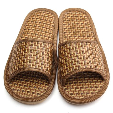 2015 summer house slippers bamboo leisure pantufas adulto men women solid home indoor pantuflas