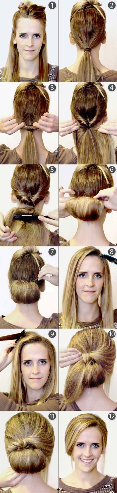 quick  easy step  step hairstyles  beginners
