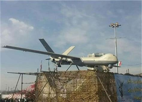 iran unveils newly designed model of shahed 129 range drone uav unmanned aerial vehicle