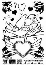 Quiver Coloring Valentijn Kleurplaat Kleurplaten Sheets Augmented Reality Valentine Voice Ausmalbilder Sheet Hit Copies Valentinstag Stemmen sketch template