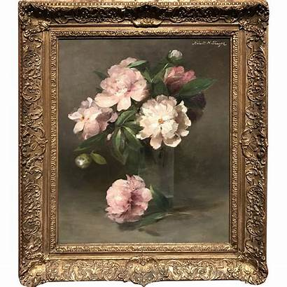 Oil Painting Still Thayer Abbott Handerson Peonies