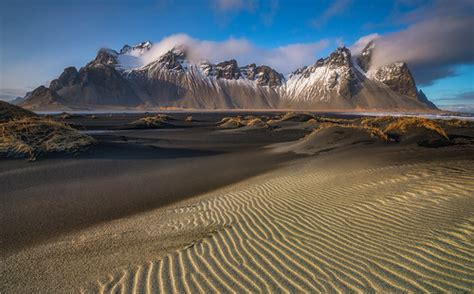 rippled sands ridges stokksnes mt vestrahorn icel