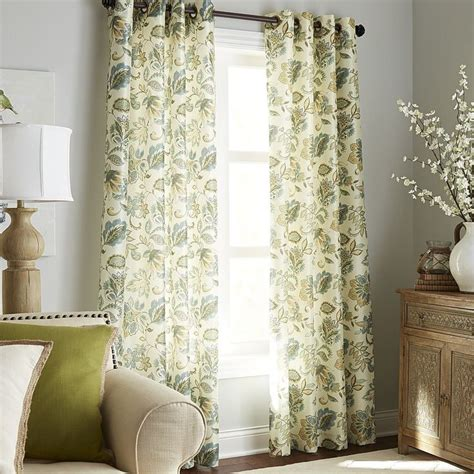 pier one curtains glencove floral curtain blue pier 1 imports 7th ave