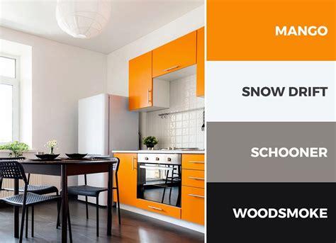 30 Captivating Kitchen Color Schemes Orange Wall Orange