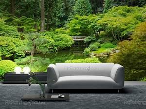 Poster Mural Nature : wall murals landscape canvas prints posters japanese garden 2067en ~ Teatrodelosmanantiales.com Idées de Décoration