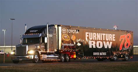 furniture row racing hauler suffers damage  hit  run