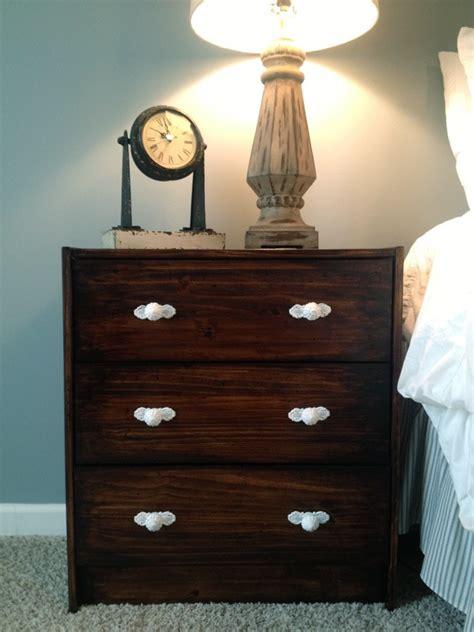hobby lobby nightstand ikea rast nightstand makeover using gel stain and knobs