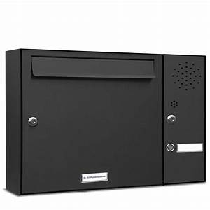 Briefkasten Mit Klingel Aufputz : 1er briefkasten anlage aufputz wandmontage ral 7016 anthrazit klingel ebay ~ Sanjose-hotels-ca.com Haus und Dekorationen