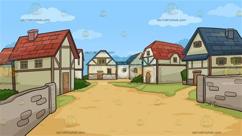 A Small Medieval Village Background – Clipart Cartoons By ...