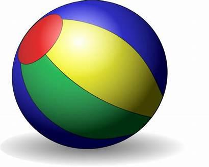 Ball Clipart Clip Cartoon Beachball Pelotas Dibujos