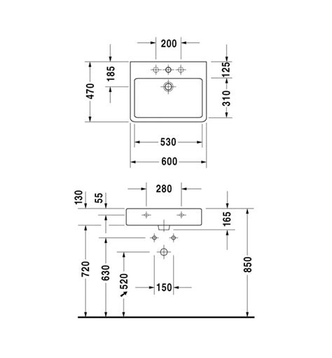 duravit vero sink sizes duravit vero white 600 x 470mm 1 tap basin 0454600000