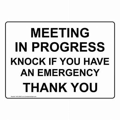 Meeting Progress Knock Emergency Enter Nhe