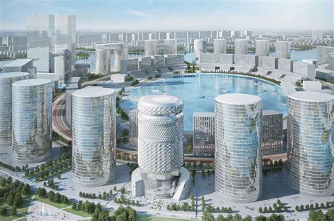 open floor plan house zhengzhou commercial office towers by asymptote